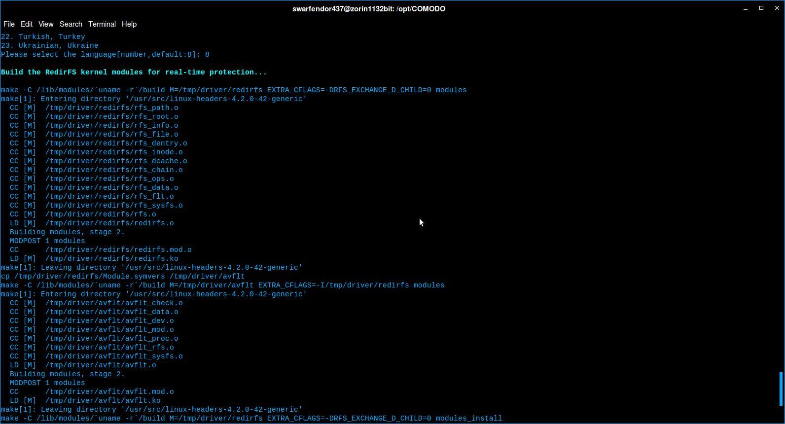 Build redirfs kernel modules Comodo.jpg